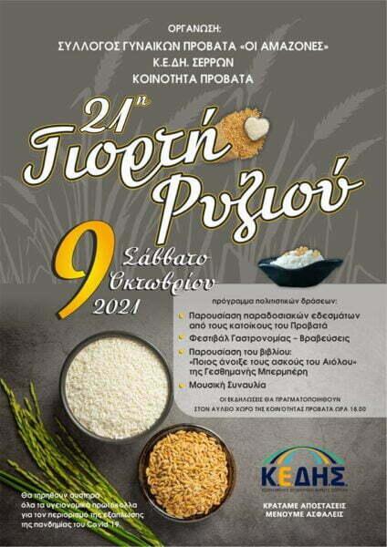 Σέρρες: 21η Γιορτή Ρυζιού στον Προβατά, φωτογραφία-1
